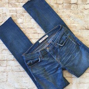 J. Brand Skinny Distressed Raw Hem Jean